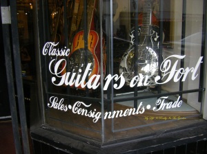 This is the guitar store, what a magnificent place to discover.