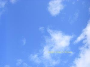 lovely, lovely blue skies